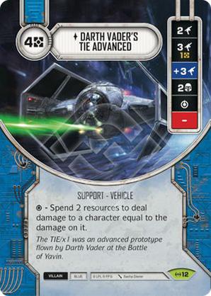 Darth Vader fejlesztett Tie vadásza
