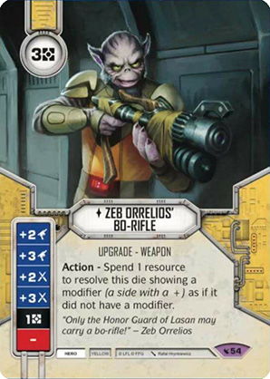 Zeb Orrelios Bo-fegyvere