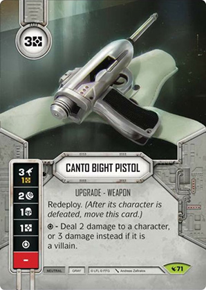 Canto Bight-i pisztoly